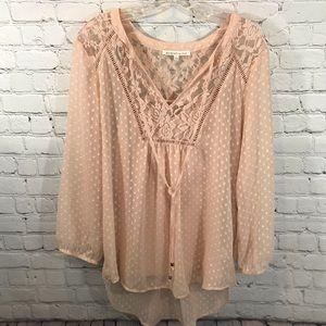 Daniel rainn blush blouse